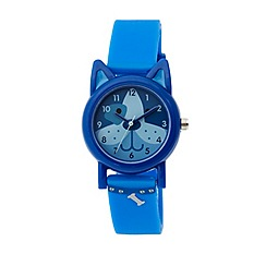 Tikkers - Tikkers blue silicone strap dog watch