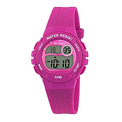 Tikkers - Tikkers pink silicone strap digital watch