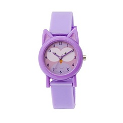 Tikkers - Tikkers purple silicone strap owl watch