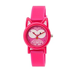 Tikkers - Tikkers pink silicone strap owl watch