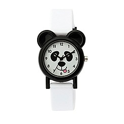 Tikkers - Tikkers white silicone strap panda watch