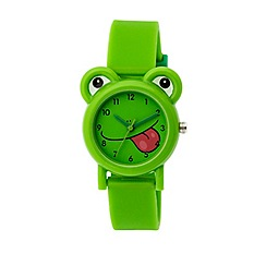 Tikkers - Tikkers green silicone strap frog watch