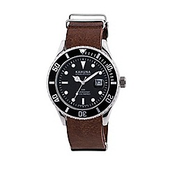 Kahuna - Men's burgundy strap watch kus-0106g