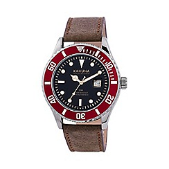 Kahuna - Men's brown strap watch