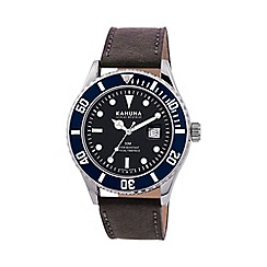 Kahuna - Men's black strap watch kus-0103g