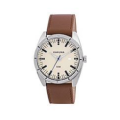 Kahuna - Men's tan strap watch kus-0117g