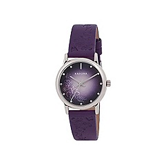 Kahuna - Ladies purple embossed strap watch