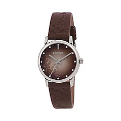 Kahuna - Ladies brown embossed strap watch