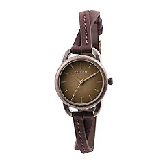 Kahuna - Ladies tan cross over strap watch
