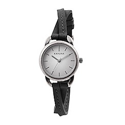 Kahuna - Ladies black cross over strap watch