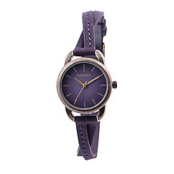 Kahuna - Ladies purple cross over strap watch