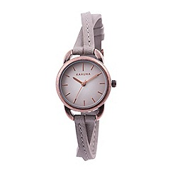 Kahuna - Ladies taupe cross over strap watch