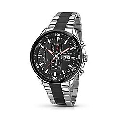 Accurist - Mens 2-tone bracelet chronograph watch