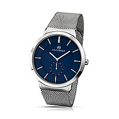 Accurist - Gents milanese bracelet watch with blue dial