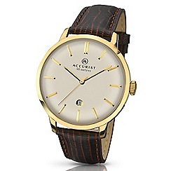 Accurist - Gents gold plated strap watch