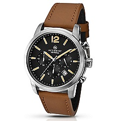 Accurist - Gents chronograph watch with tan leather strap