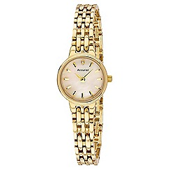 Accurist - Ladies Gold plated stone set bracelet watch