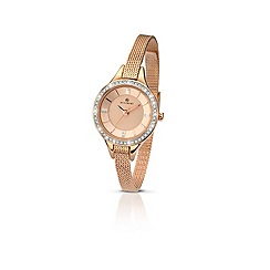 Accurist - Ladies Rose gold stone set bracelet watch