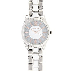 Red Herring - Ladies white two tone bracelet glitter dial watch