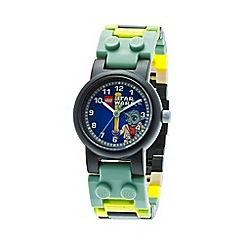 LEGO - Kids LEGO Star Wars Yoda watch with minifigure