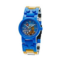 LEGO - Kids LEGO Star Wars C3PO + R2D2 watch with minifigure