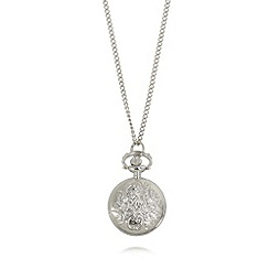 Floozie by Frost French - Silver plated pendant watch