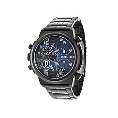Police - Mens blue chronographgraph dial black bracelet watch