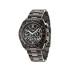 Police - Mens black chronograph dial black bracelet watch