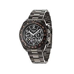 Police - Mens black chronograph dial black bracelet watch