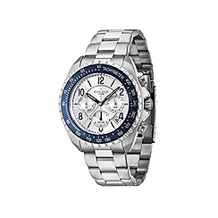 Police - Mens silver chronograph dial silver bracelet watch