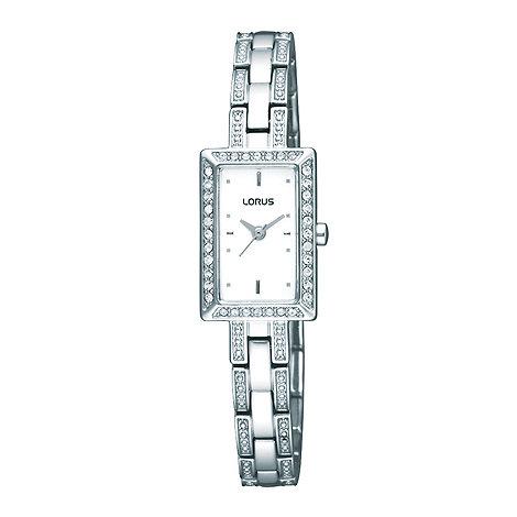 Lorus - Ladies silver diamante bracelet watch