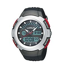 Lorus - Men's dark grey round digital watch r2319dx9