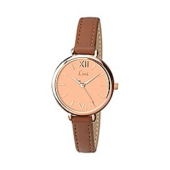 Limit - Ladies rose gold plated strap watch 6073.01