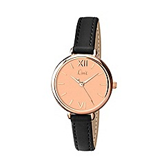 Limit - Ladies rose gold plated strap watch