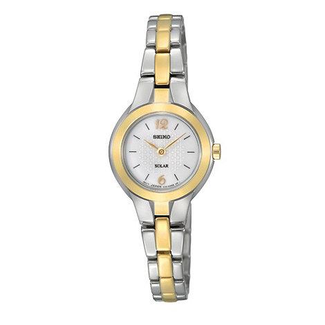 Seiko - Ladies silver round two tone bracelet watch