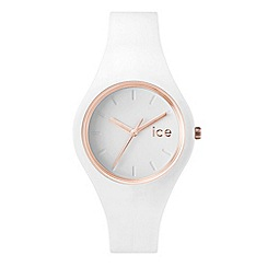 ICE - Ladies small white 'Glam' watch