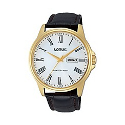 Lorus - Mens GP leather strap dress watch