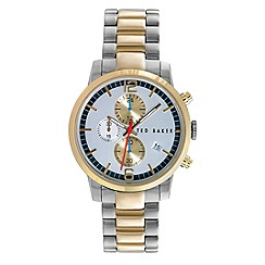 Ted Baker - Mens silver dial and stainless steel bracelet