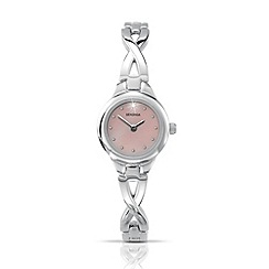 Sekonda - Ladies pink mother-of-pearl dial silver bracelet watch