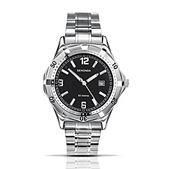 Sekonda - Men's quartz analogue silver round dial watch