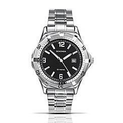 Sekonda - Men's quartz analogue silver round dial watch
