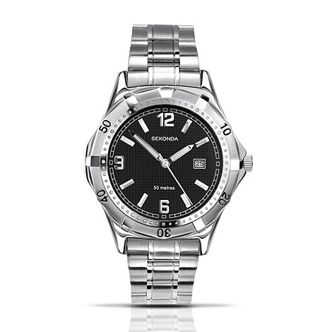 Sekonda - Men+s quartz analogue silver round dial watch 3329.27
