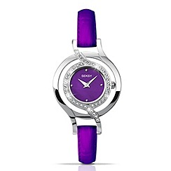 Seksy - Ladies purple diamante set watch
