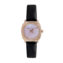 Ted Baker - Ladies pink dial black patent leather strap