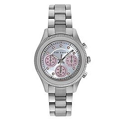 Ted Baker - Ladies silver dail stainless steel bracelet