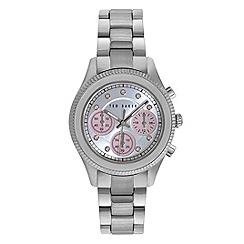 Ted Baker - Ladies silver dail stainless steel bracelet te4108