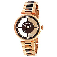 Kenneth Cole - Ladies rose gold and brown bracelet