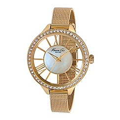 Kenneth Cole - Ladies gold mesh bracelet