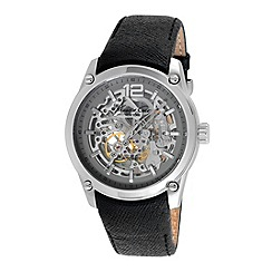 Kenneth Cole - Mens black leather strap watch