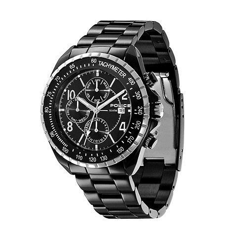 Police - Men+s black chronograph dial bracelet watch
